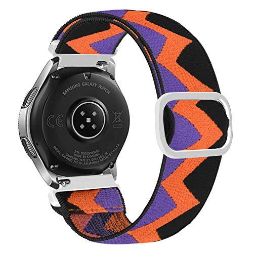 Vozehui Compatibile con Samsung Gear S3 Frontier/Gear S3 Classic/Galaxy Watch 46 mm/Huami Amazfit 2/Huawei Watch GT/Huawei Watch 2 Pro, cinturino elastico regolabile in nylon morbido da 22 mm
