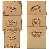 TUPARKA 36 Piezas Nota de Agradecimiento Tarjetas Gracias Tarjetas de Regalos Tarjetas de Felicitacion con Sobres para Thanksgiving Day San Valentín Fiesta de cumpleaños