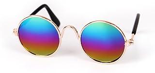 Rstar Pet Sunglasses Retro Circular Metal Prince Sunglasses Eye-wear Props Accessories Cosplay Glasses Funny Pet Accessori...