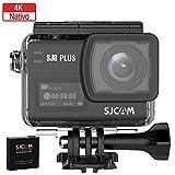 Sjcam sj8 Plus cámara Deportiva 4k nativa 30m, Pantalla táctil OLED, Action cámara acuática con batería y Cargador Externo, gyroscopio de 3 Ejes, Zoom Digital x4, 1200mah.