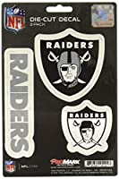 NFL Oakland Raiders Team Decal, 3-Pack