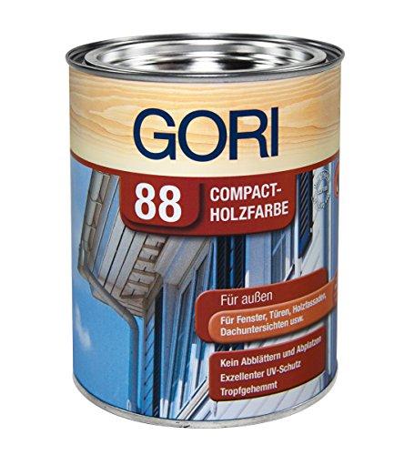 Gori 88 Compackt Holzfarbe - 0.75 Liter (Polar Weiss)