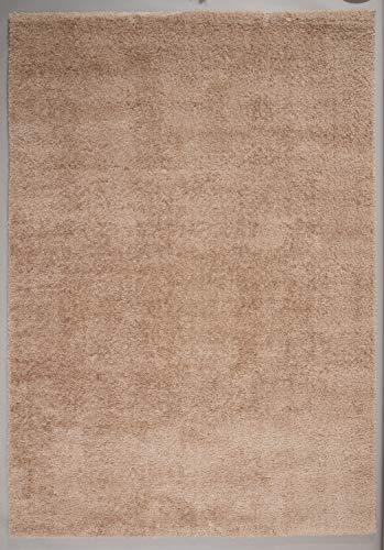 Ladeco Seidenweicher Microfaser Hochflor Shaggy Teppich in 8 Farben und 7 Größen (Cappuccino, 120 x 170 cm)