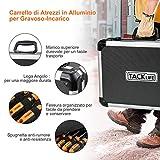 Immagine 2 tacklife cassetta attrezzi 136pcs valigia