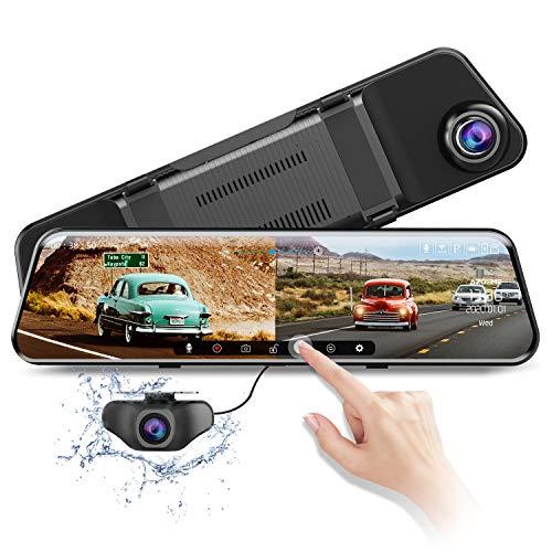 """AZDOME 11.8\"""" Spiegel Dashcam mit Rückfahrkamera, ADAS, Super Nachtsicht, Loop-Aufnahme, G-Sensor, Einparkhilfe, Parkmonitor Autokamera Dual Lens[1296P, 170°Vorne; 1080P, 150°Hinten](2020Version PG17)"""
