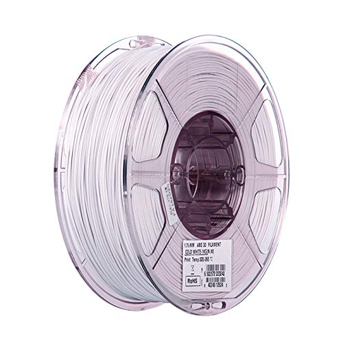 YANHAI ABS Filament 1.75mm for FDM 3D Printer 3D Pen, With High Strength and Better Toughness,ABS 3D Filament Accuracy +/- 0.03 mm, 1KG white