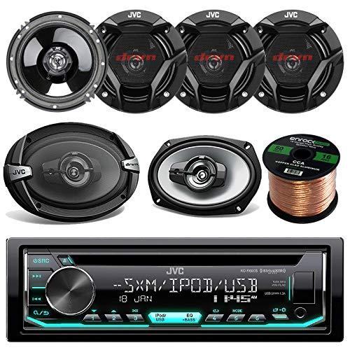 Sale!! JVC KD-R690 CD/MP3/WMA Receiver Bundle Combo with 2X JVC CS-DR693 6x9 1000w 3-Way Vehicle Ste...