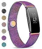 AK Compatible con Fitbit Inspire HR, Cierre magnético de Malla de Metal de Acero Inoxidable, Correa de Repuesto para Fitbit Inspire y Fitbit Inspire HR