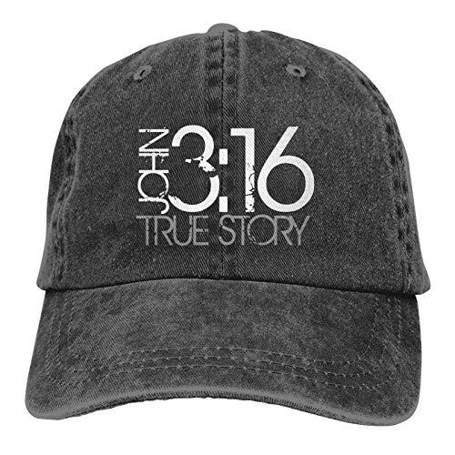 John True Story Christian Men's Classic Polo Style Baseball Cap...