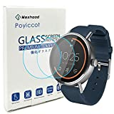 Poyiccot for Misfit Vapor 46mm Screen Protector Tempered Glass, 0.3mm Ultra-Thin...