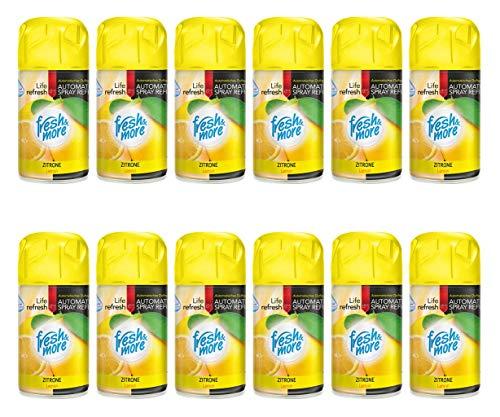 12x Fresh & More Lemon Lutferfrischer Für Automatische Duftspender -250ml