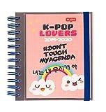 K-Pop Lovers Timer September 2019 bis Juni 2020 pink, 14 x 16 cm, mit Spiralbindung, September 2019 - Juni 2020.
