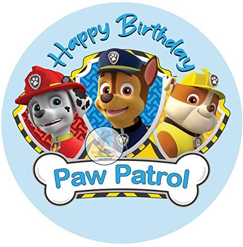 Paw Patrol, Essbares Tortenbild, Tortenaufleger Ø 20cm - 0229W