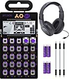 """Teenage Engineering PO-20 Pocket Operator Arcade Synthesizer Bundle with Samson SR350 Over-Ear Closed-Back Headphones, Blucoil 3-Pack of 7"""" Audio Aux Cables, and 4 AAA Batteries"""