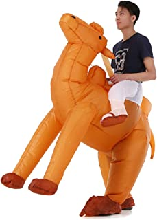 Adults Camel Inflatable Costume Props Blow Up Inflatable Fancy Dress for Halloween Cosplay Party Stage Performance