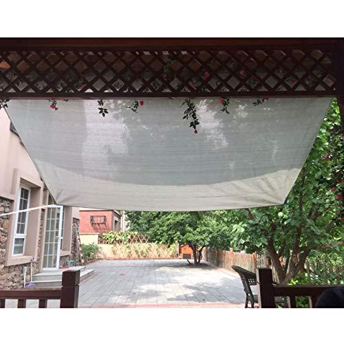 YLL Filet Ombrage Ombrage Serre Protection Toile D'ombrage Ombrage Pergola Tissu D'ombrage Anti-Ultraviolet Différentes Tailles Taux D'ombrage Élevé (Grise),1x1m(3 * 3ft)