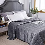 HomeSmart Weighted Blanket King Size 20lbs (88'x104') - US Based Company - Premium Heavy Blanket for a More Restful Night's Sleep - Ultra Soft Cotton - Fits King & California King Beds 20+ lbs
