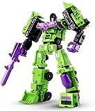 Renwu Transformers Spielzeug, 6 in 1 Modell Defensor Devastator Compination Können Tows Automation Figure Roboter Kunststoffspielzeug