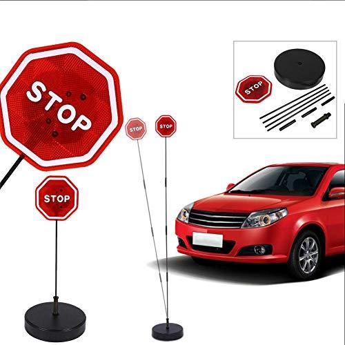 DBKW LED Stoppschild Einparkhilfe mit Erschütterungssensor. Parksensor Parkassistent ……