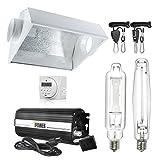 iPower 1000 Watt HPS MH Digital Dimmable Grow Light System Kits Air Cooled Reflector Hood Set (GLSETX1000DHMACDIGIT)