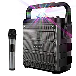 top rated Amazmic portable karaoke machine for kids and adults, Bluetooth speaker with wireless speakerphone … 2021