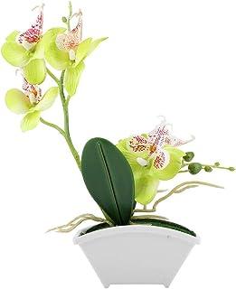 Pote Decorativo de Plantas de Orquídea Artificial de Mariposa de Flor para Decoración Casera Inofensiva
