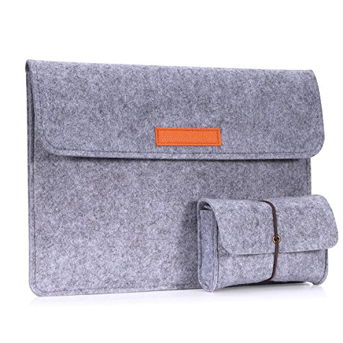 MoKo 12 Inch Laptop Felt Sleeve Bag, Protective Case Cover Fit Microsoft Surface Pro 7/Pro 6/Pro 5/Pro 4/Pro 3/Pro LTE 12.3
