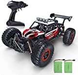 1:14 Scale Remote Control Car, 2WD High Speed 20 Km/h All Terrains Electric Toy Off Road RC Monster Vehicle Truck Crawler with Two Rechargeable Batteries for Boys Kids and All Adults