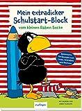 Der kleine Rabe Socke: Mein extradicker Schulstart-Block: Lernblock für Vorschulkinder ab 5 Jahren