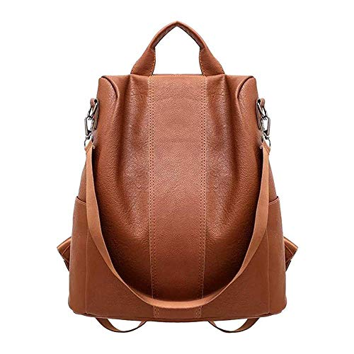 Ladies female anti-theft backpack classic leather solid color backpack fashion shoulder bag backpack