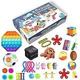 Juego de juguetes con calendario de Adviento de cuenta atrás para Navidad, regalos sorpresa de 24 piezas diferentes juguetes sensoriales para contar atrás Navidad fiesta favor niño