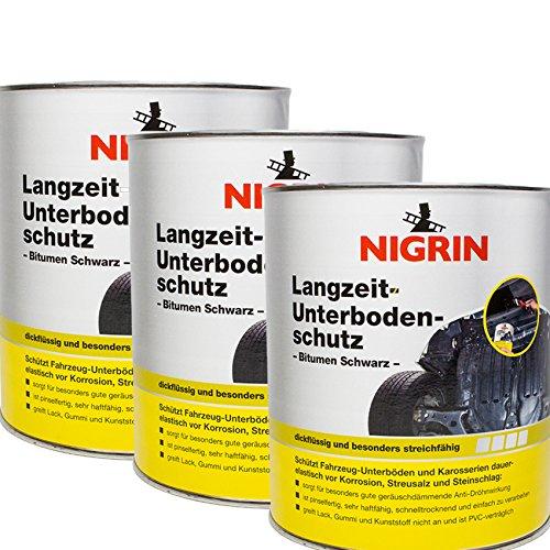 Nigrin 3X 74061 Langzeit-Unterbodenschutz Bitumen schwarz 2,5 kg