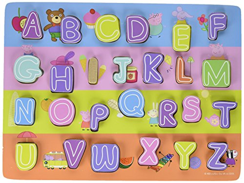 Peppa Pig Chunky ABC Wood Puzzle (26 Piece)