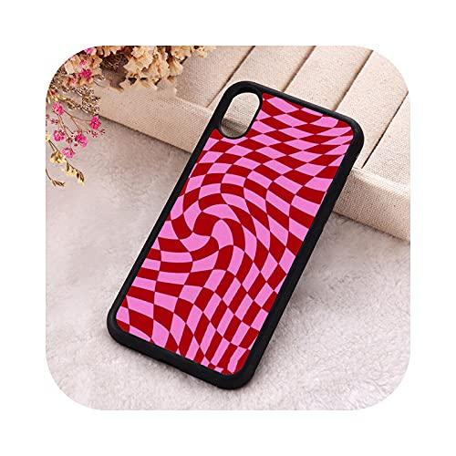 P.X.M.E. 5 5S SE 2020 Fundas de teléfono para iPhone 6 6S 7 8 Plus X Xs Max XR 11 12 MINI Pro goma silicona Crazy Checkers-para iPhone 7 Plus