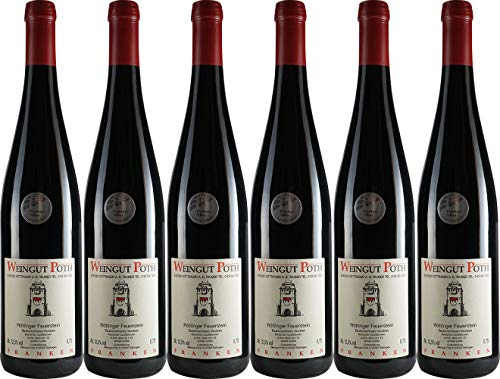 Poth Röttinger Feuerstein Tauberschwarz Qualitätswein 2017 Trocken (6 x 0.75 l)