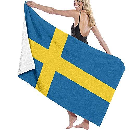 Tonesum Duschtücher,Strand Badetücher,Strandhandtuch,Decke Badetuch,Schweden Flagge Quick Dry Blanket Badetuch,Sporttuch Für Yoga,Schwimmen,Fitness,Pool,Reisen 130X80CM