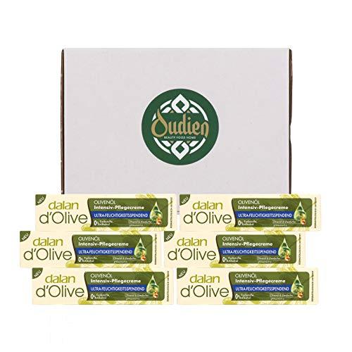 OUDIEN 6er Set dalan d\'olive Intensiv-Pflegecreme 20ml, Intensivcreme für Hände und Körper mit Olivenöl, Feuchtigkeitscreme