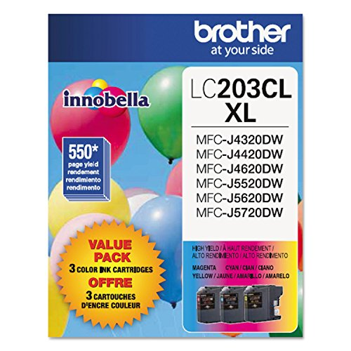 Price comparison product image Brother LC203CL Ink Cartridge - Cyan,  Magenta,  Yellow - 1 Each