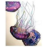 bdrsjdsb Moderne Quallen wandbild leinwand malerei