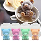 Yamteck Ice Bear Mold 4 Pack, Ice Cube Trays Molds 3D DIY Drink Cake Decoration for Christmas,...