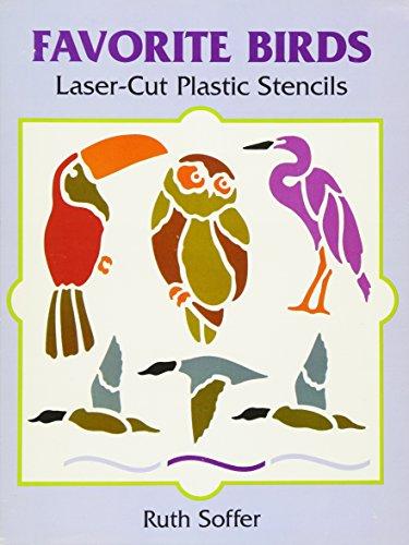 FAVORITE BIRDS LASER-CUT PLAST (Laser-Cut Stencils)