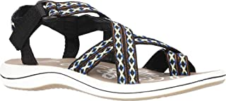 Easy Street Women's Sport Sandal, Black, 8 X-Wide