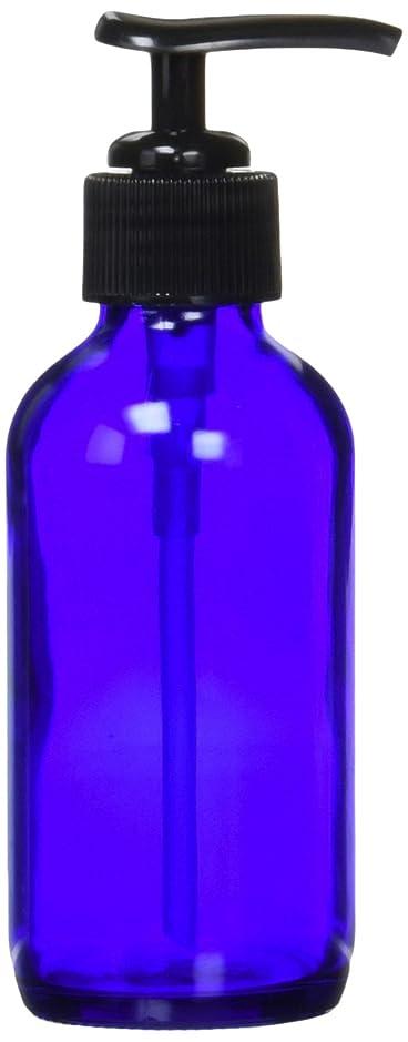 強制伝説健康的生活の木 青色ガラスポンプ瓶(120ml)