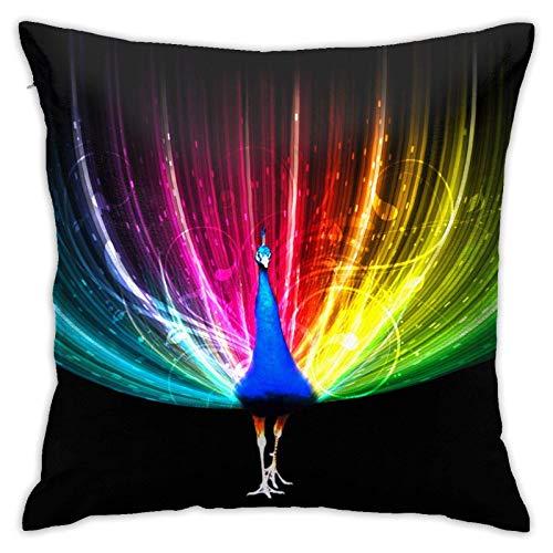 Hangdachang - Fundas de almohada de lujo para ropa de cama, salón, sofá, sofá, funda de almohada con estampado de arcoíris, funda de almohada única, multicolor