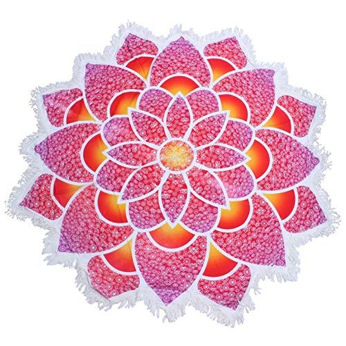 YCEOT katoen ronde Lotus bloem tapijt strand handdoek badpak Cover Roze