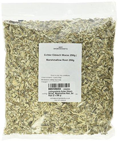 JustIngredients Echter Eibisch Wurzel, Marshmallow Root, 1er Pack (250 g)