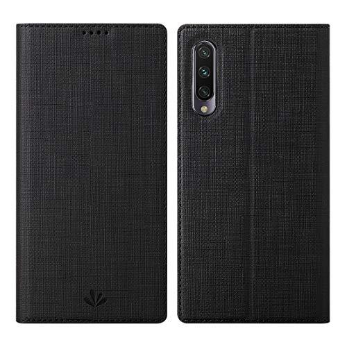 Eastcoo Xiaomi Mi A3 Hülle, Flip Folio Wallet Leder Hülle Tasche Schutzhülle Handyhülle mit [Standfunktion][Magnetic Closure] für Xiaomi Mi A3 (Mi A3, Black)