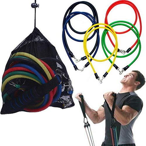 Juego de bandas de resistencia NDS para entrenamientos en casa, terapia física, bandas de ejercicio con asas, anclaje de puerta, correas de tobillo