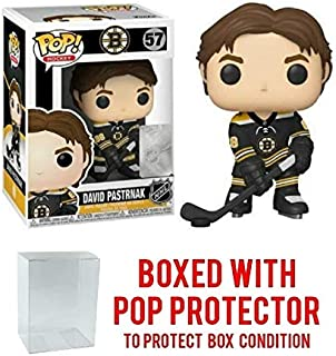 POP! Sports NHL David Pastrnak Boston Bruins Home Jersey Action Figure (Bundled with Pop Shield Protector to Protect Display Box)