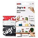 Sugru I000942 Pegamento multiusos moldeable para fijación y fabricación creativa, negro, blanco y rojo, 3 piezas